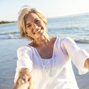 Older Woman on Beach